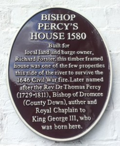 Bishop Percy's House Sign